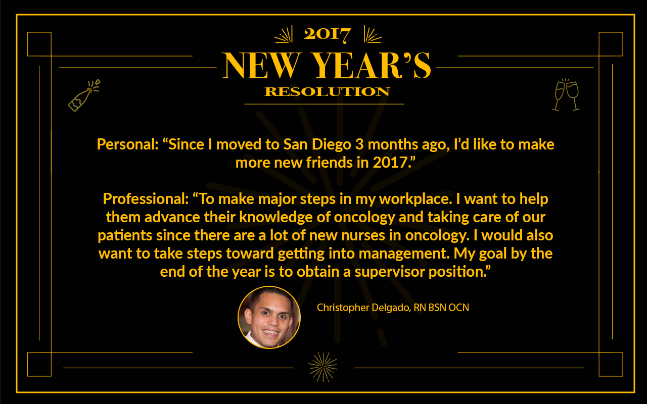 chris delgado, rn 2017 Resolutions