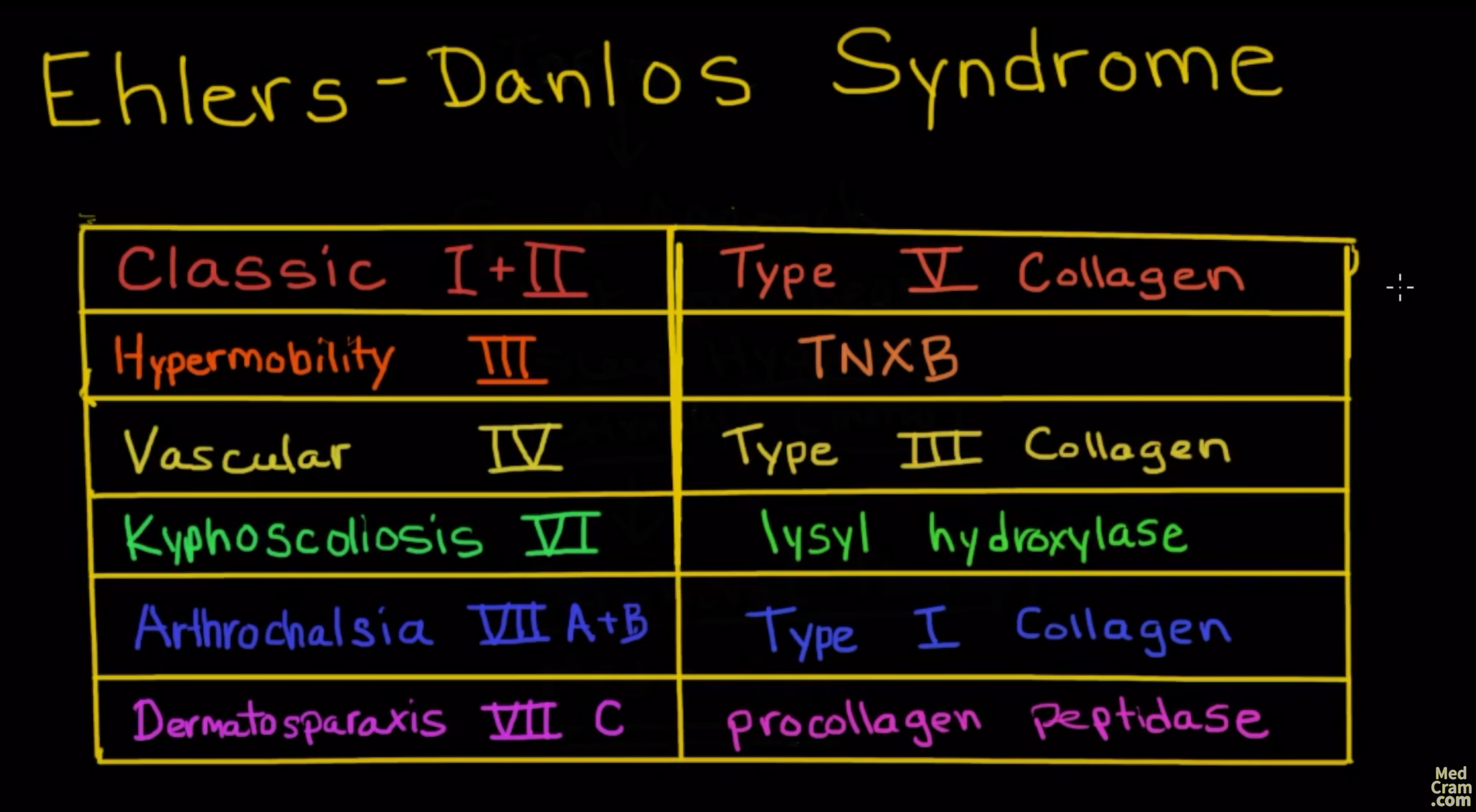 Ehlers Danlos Syndrome Video Explanation