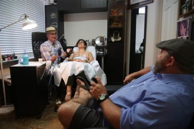 Tattoo artist, Vinnie Meyers tattoos breast cancer survivors