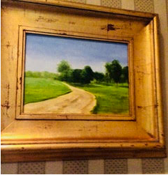 road and farm painting in Mississippi
