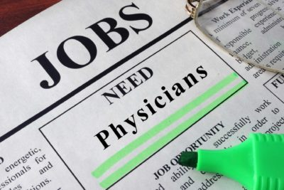 physician shortages newspaper job advert