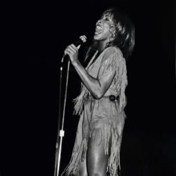 Tina Turner during a concert in 1982