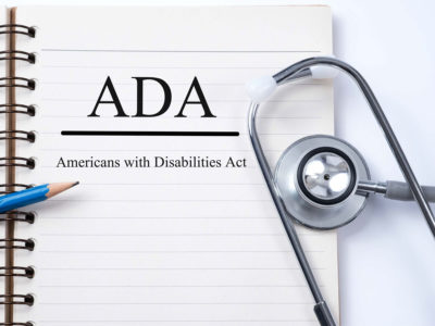 americans with disabilities act with physician stethoscope