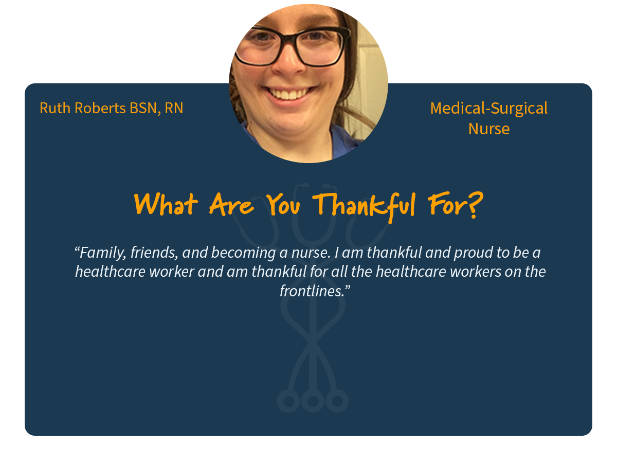 healthcare worker thankful